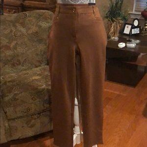 Chico's 1 - Reg 8/10 So Slimming Ankle Pants Brown